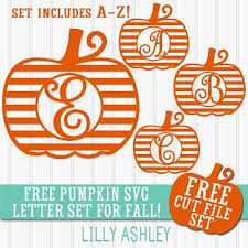 free striped pumpkin letter svg cut file set a z cricut