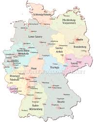 Germany Map Outline by Map Rivers