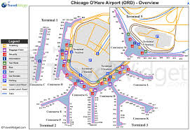 Airport Map Chicago O Hare Map Chicago O Hare International Airport Map