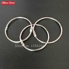 wholesales diy silver color iron hoop loose leaf album open ring