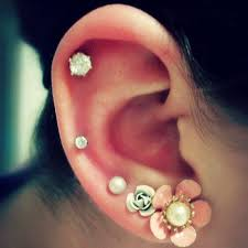 stud cartilage piercing explore the 8 stunning styles of helix piercing earrings