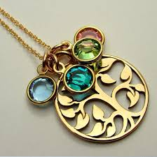 grandmother birthstone jewelry s necklace family tree birthstone charm necklace gold