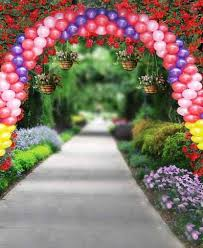 wedding backdrop garden air balloons garden road for custom wedding photos props vinyl