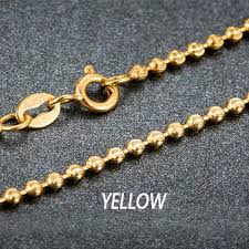 white gold bead necklace images 18k pure gold beads necklace rose white or yellow chain real jpg