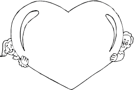 7 images free printable heart coloring sheets black