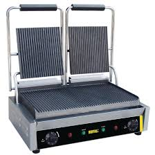 buffalo bistro contact grill double ribbed dm902 buy online at