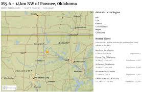 North Dakota Time Zone Map by Major M5 6 Earthquake Hits Oklahoma Felt From North Dakota All