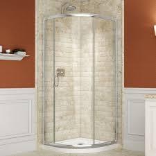 Bathroom Corner Showers Shower Dreamline Prime In X Framed Sliding Shower Corner