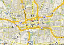 map of columbus map of courtyard by marriott columbus downtown columbus