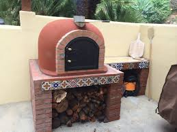 outdoor pizza oven wood fired insulated w brick arch u0026 chimney