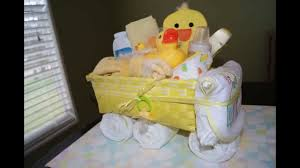 how to make a non diaper cake truck gift basket youtube