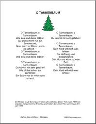 german christmas carols o tannenbaum abcteach