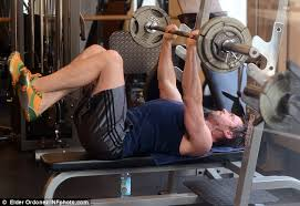 Bench Press For Biceps - hugh jackman flexes his mean biceps and rock hard abs during early