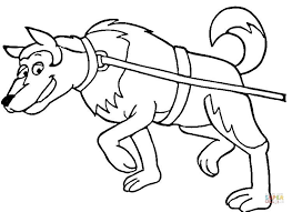 dog sled coloring free printable coloring pages