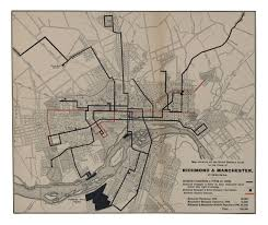 Richmond Virginia Map by Streetcar Map Ca 1900 Old Richmond Pinterest