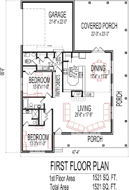 2 bedroom house floor plans cottage house floor plans 2 bedroom single story design