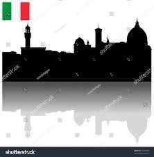 Florence Flag Black Vector Florence Silhouette Skyline Italian Stock Vector
