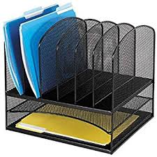 Safco Desk Organizers Safco Products 3255bl Onyx Mesh Desktop Organizer