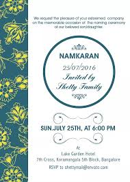 ceremony cards free namakaran invitation wordings online