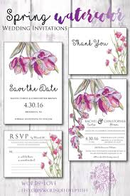 the spring flowers watercolor suite from words of love invites on