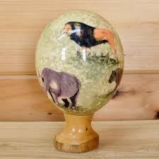 decorated ostrich eggs for sale big five ostrich egg sw3578 for sale safariworks taxidermy sales