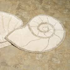 Bathroom Floor Rugs Nautilus Shell Bath Rug