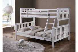 Oscar White Wooden Triple Sleeper Bed Sleep Design - Single double bunk beds