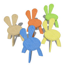 Kids Chairs And Table Kids Rabbit Chairs And Tables 3d Model Formfonts 3d Models