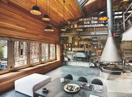 Industrial Home Design Karakoy Loft Uses Rich Wood Features And Creative Industrial Elements