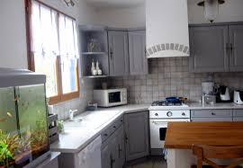 cuisine rustique repeinte en gris cuisine repeinte beautiful affordable cuisine repeinte en