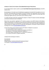 closed invitation to tender for the provision of social media