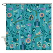 Teal Patterned Curtains Makanahele Com Category Teal Shower Curtains