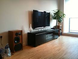 living living room home theater with wall mounted lcd tv and