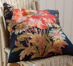 floral pillow cover pottery barn