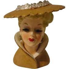 Napco Lady Head Vase 1176 Best Head Vases Images On Pinterest Vases Planters And