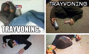 Trayvoning Meme - disturbing trayvoning trend resurfaces on twitter after image of