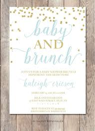 brunch invitation sle baby shower brunch invitations marialonghi