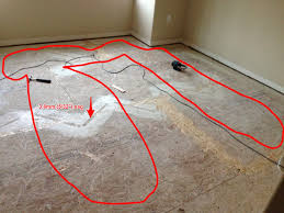 hardwood floor how to flatten the sagging osb subfloor home