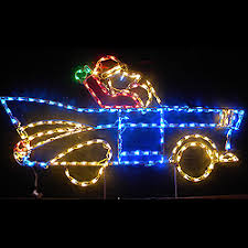 lighted outdoor decorations lighted automobile decorations