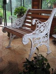 Wrought Iron Patio Benches Foter - Outdoor iron furniture