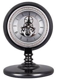 horloge de bureau design gears luxurious desk room black clock retro steunk loft style
