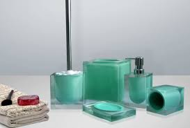 Turquoise Bathroom Accessories by Furniture U0026 Accessories Completing Bathroom Accessories In Modern