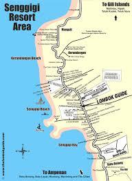 Studio City Map The Lombok Guide Map Of Senggigi