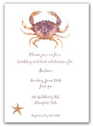 25 dugeness crab invitations rehearsal dinner invitations