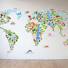 Fabric Wall Decals For Nursery Sale Cultural World Map Wall Decal From Walls2lifedecals On
