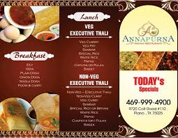 menu card annapurna indian restaurant avk innovation print artworks
