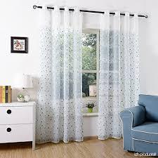 voilage fenetre chambre 2x rideaux voilages brodé pour fenêtre maison balcon chambre 40