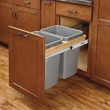 double pull out trash containers cabinetparts com