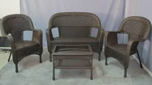 Patio Furniture Clearance Big Lots Lovely Wicker Furniture Set In Charleston 6 Outdoor All