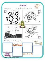 greetings worksheet esl pinterest worksheets english and